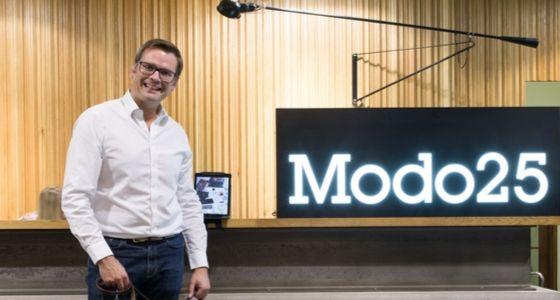 John at Modo25 entrance