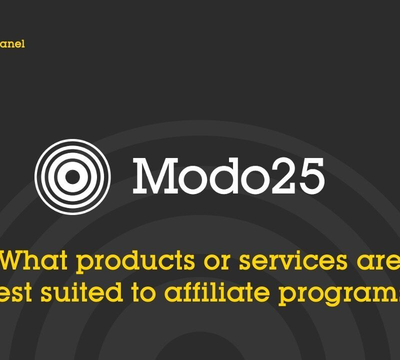 What products or services are best suited to affiliate programs