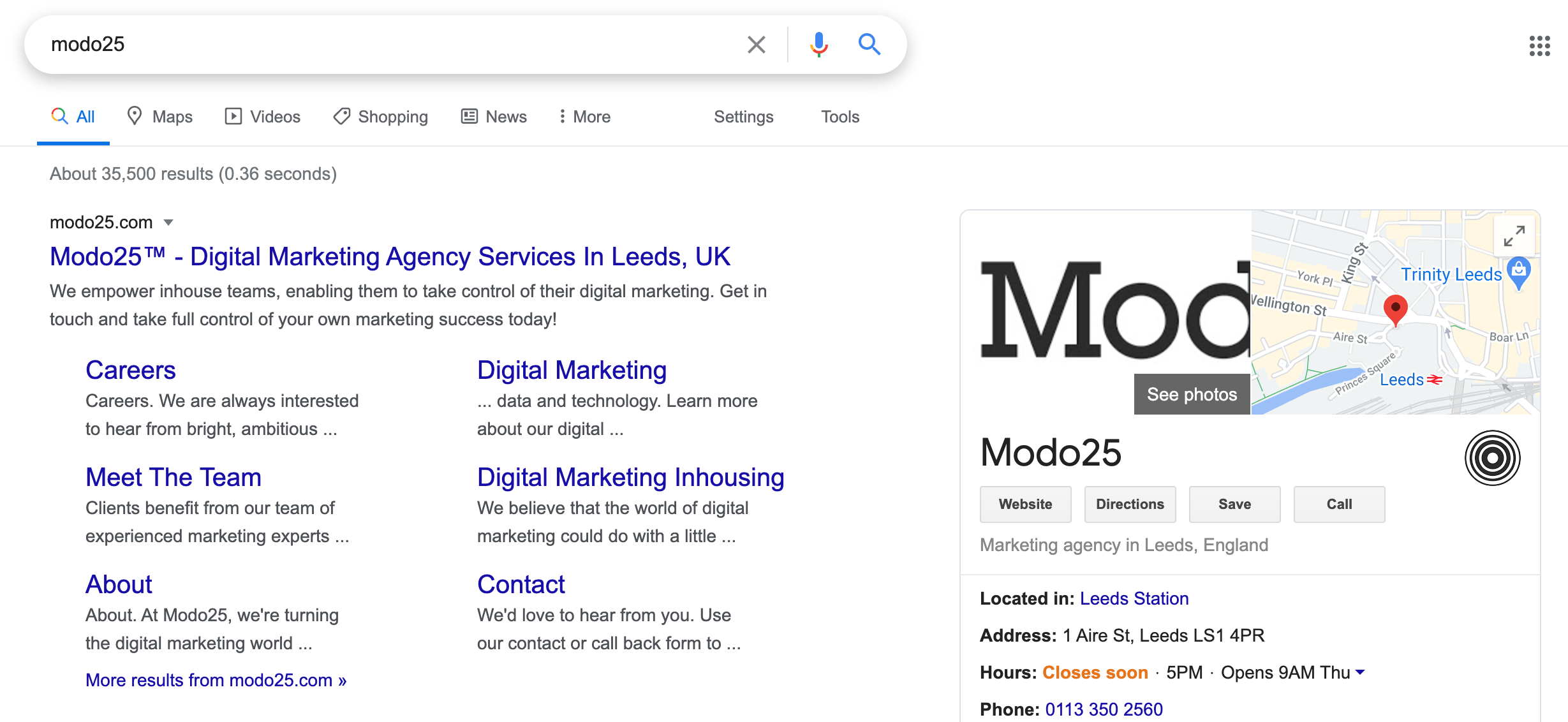 Modo25 navigational search intent