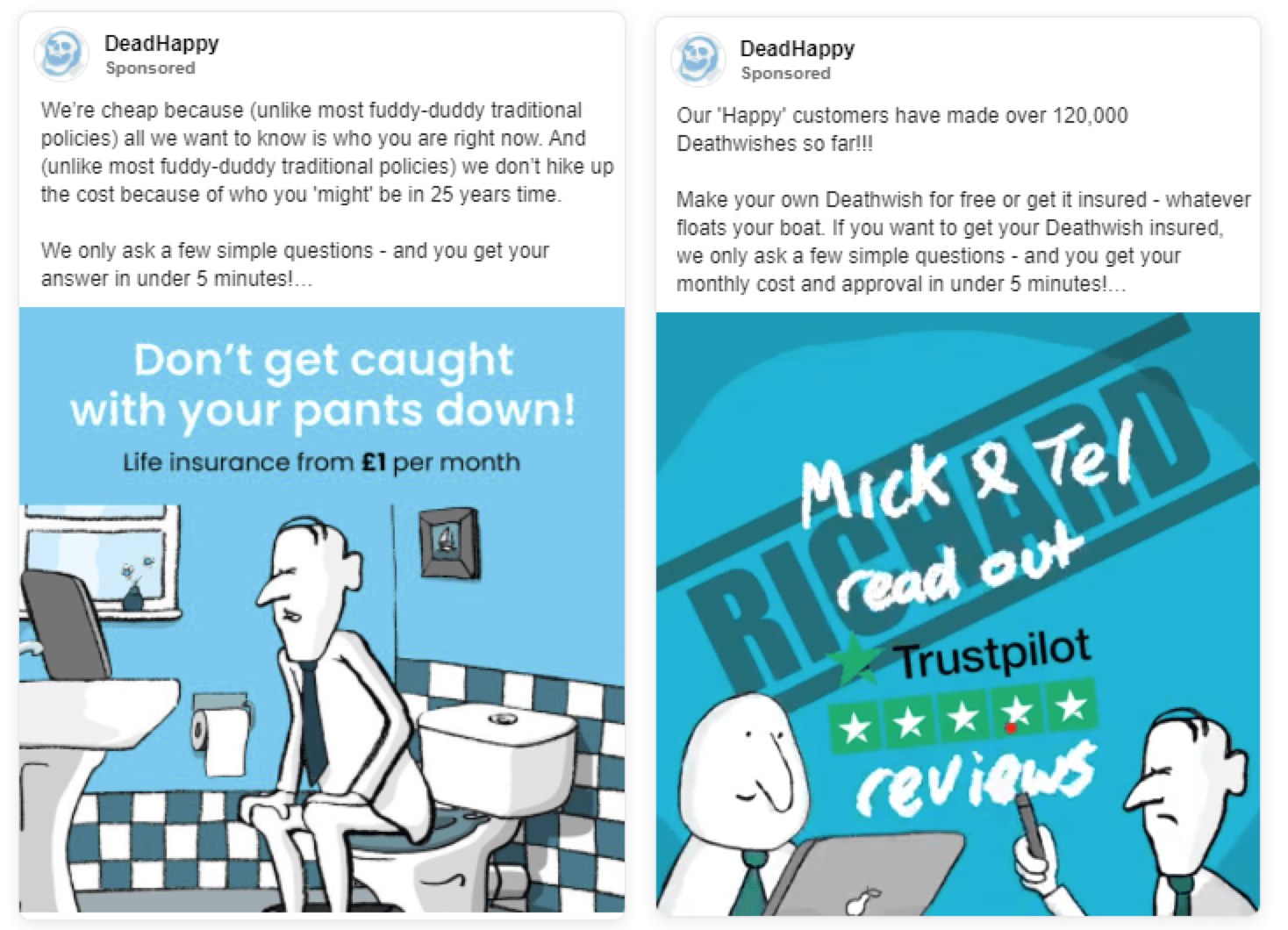 DeadHappy Facebook ads