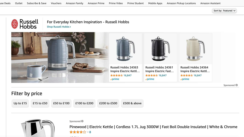 Amazon sponsored brands ad