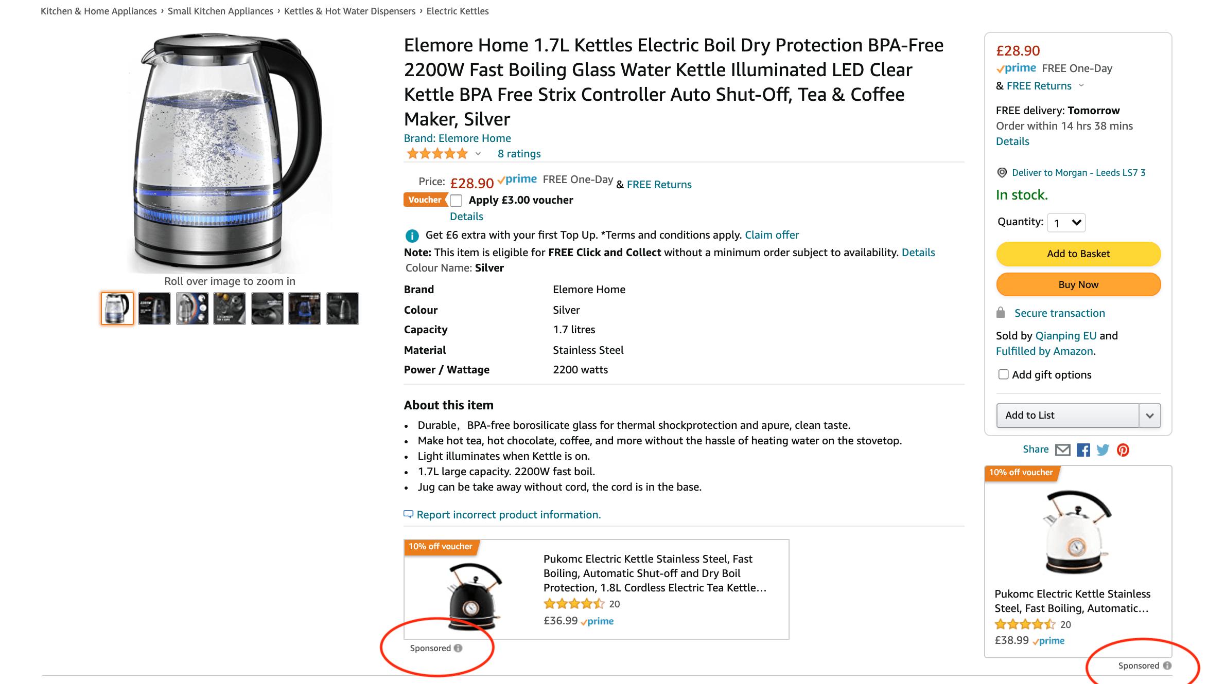 Amazon PPC display ads