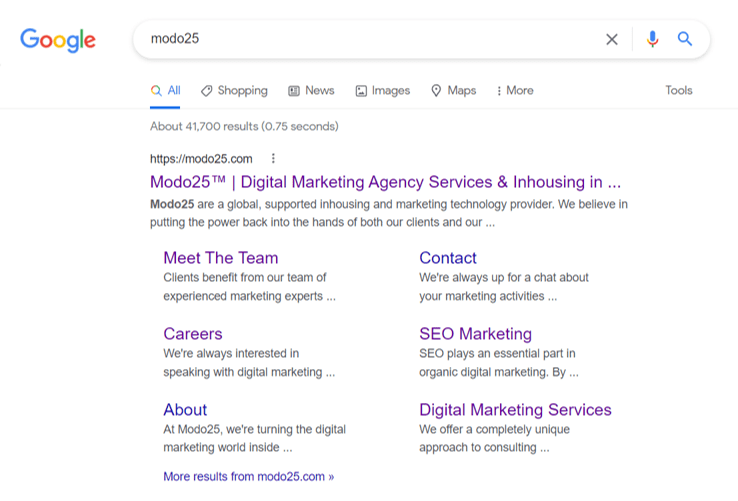 Google Modo25